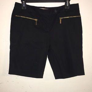 NWOT MICHAEL Michael Kors black sz6 Bermuda shorts